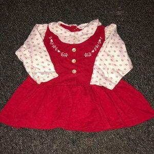 Button up collar dress